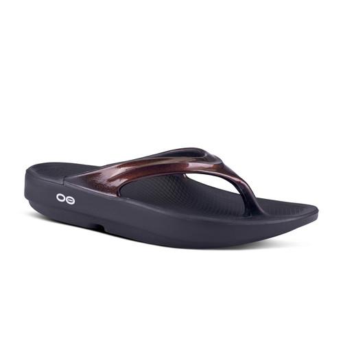 Oofos Women's Oolala Thong Sandal - Cabernet