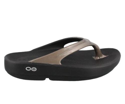 Oofos Women's OOlala Thong Sandal - Latte