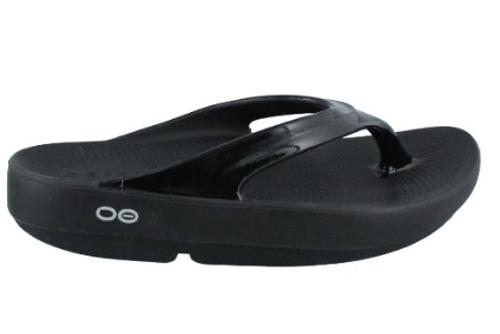 Oofos Women's OOlala Thong Sandal - Black