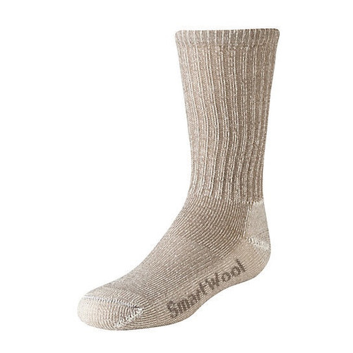 Taupe hiking light crew sock with Merino wool by Smartwool.