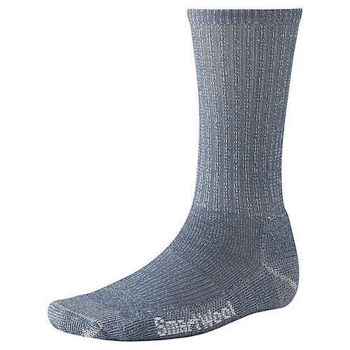 Denim hiking light crew sock with Merino wool by Smartwool.