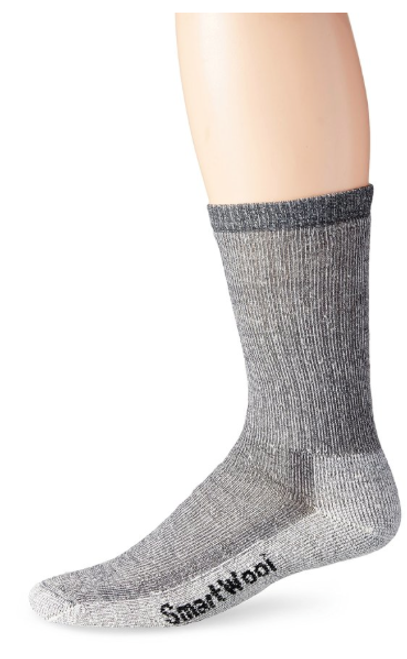 Gray medium hiker sock with Merino wool by Smartwool.