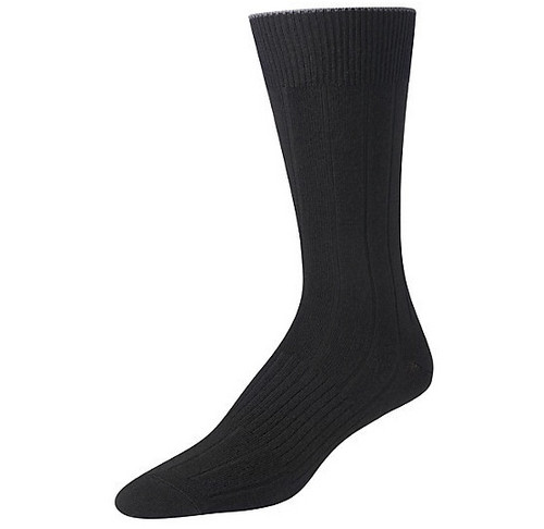 Black crew sock made with Merino wool by Smartwool.
