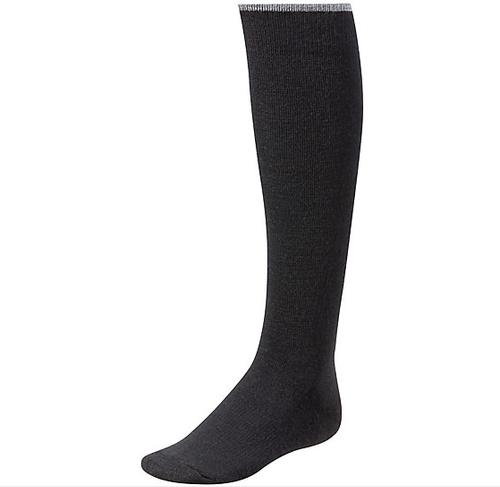 Black knee high sock made with Merino wool by Smartwool.