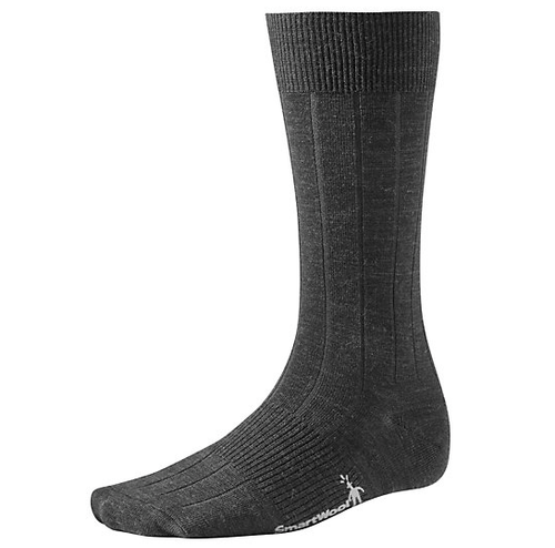 Charcoal crew sock made with Merino wool by Smartwool.