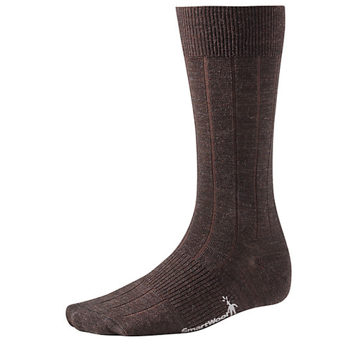 Chocolate crew sock made with Merino wool by Smartwool.