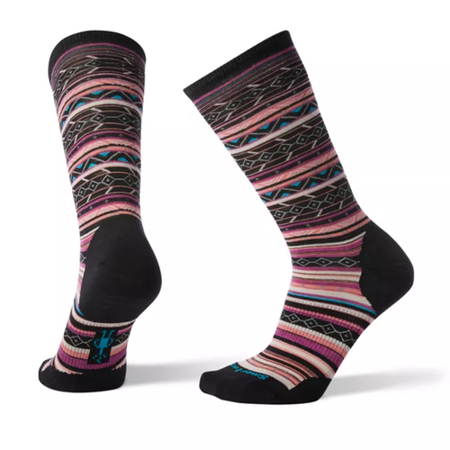 Black Meadow Mauve striped sock made with Merino wool by Smartwool.
