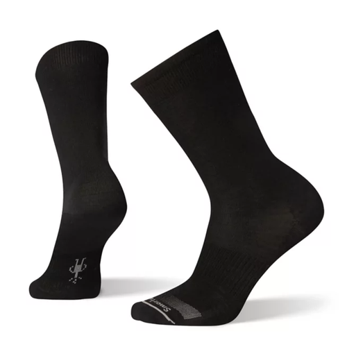 Versatile black sock you could wear hiking or with suit. Made with Merino wool by Smartwool.