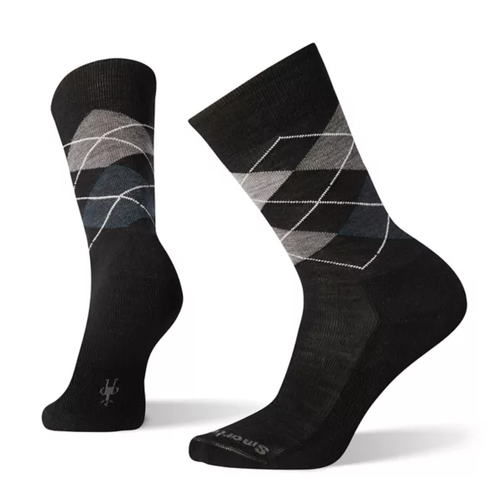 Black Diamond argyle sock made with Merino wool by Smartwool.