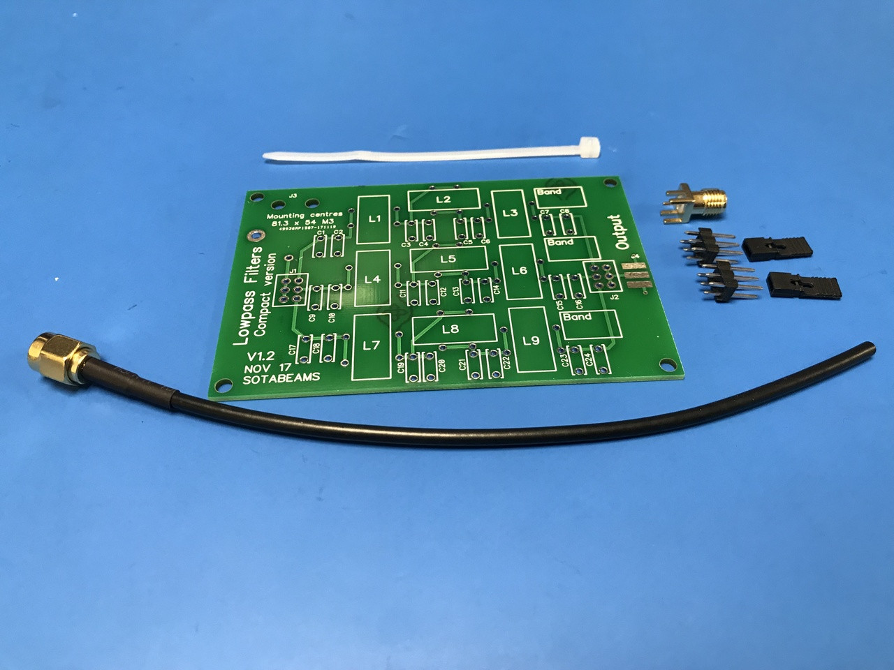 Three Band Low Pass Filter PCB Kit