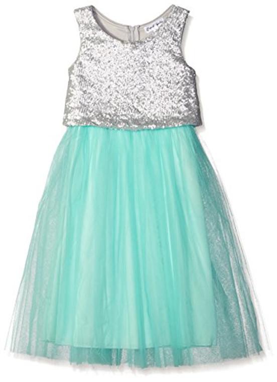 Emerald Sundae Girls' Ballet Mesh Skirt and Sequin Pop-Over Dress ( 7-16 )