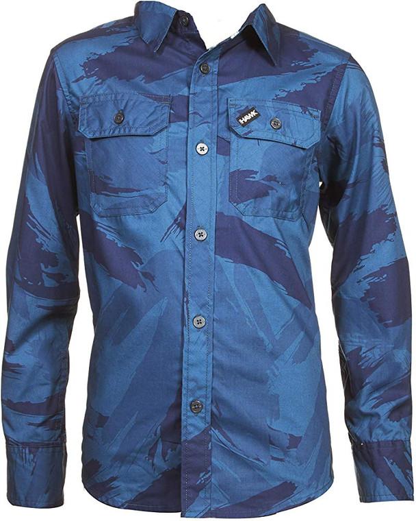TONY HAWK Long Sleeve Button Down Shirt Blue - 17/19yrs