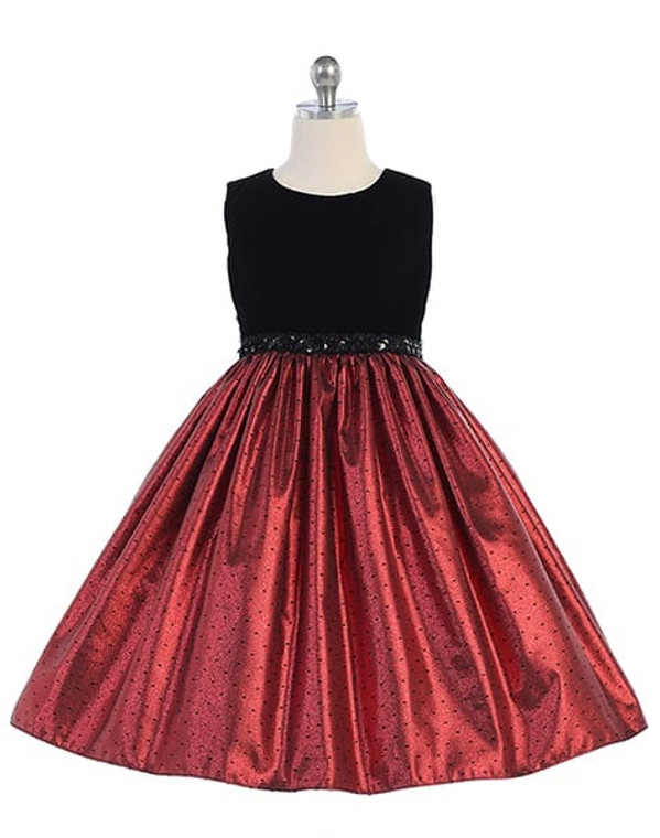 Crayon Kids Special Occasion Dress -Blk/Red - Toddler