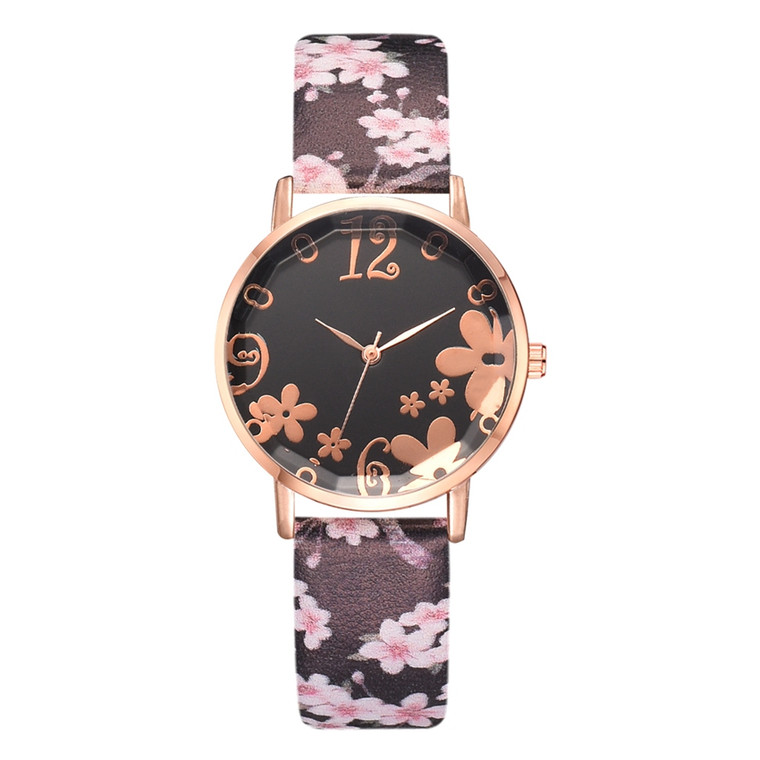 Pretty Flower Colorful  FauxLeather  Watches - Multi