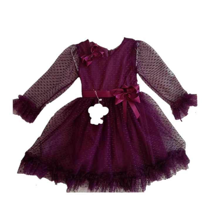 3/4 Sleeves Special Occasion Dress -Girls 4-6