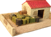 1047-Stucco building w/Courtyard & Lift-off Roof