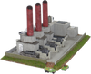Side view 6mm Industrial Power Plant