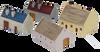 1223-Outbuilding Set 4pc