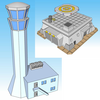 1356-Airport /Cargo Terminal 2pc Set