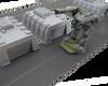 6mm Tank Garage Modern Wargaming Terrain shown with Battletech Vehicle