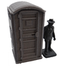 28mm Modern Porta Potty front with figure