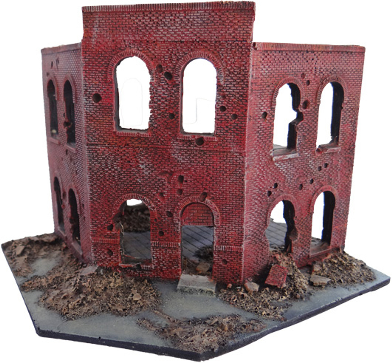 1035-2 Story Corner City Block Ruins