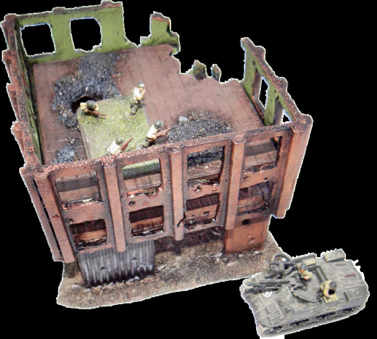 1007-Stuttgart 3 Story Ruin
