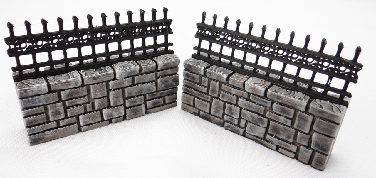 1308-Cemetery Wall Set 15pc Set