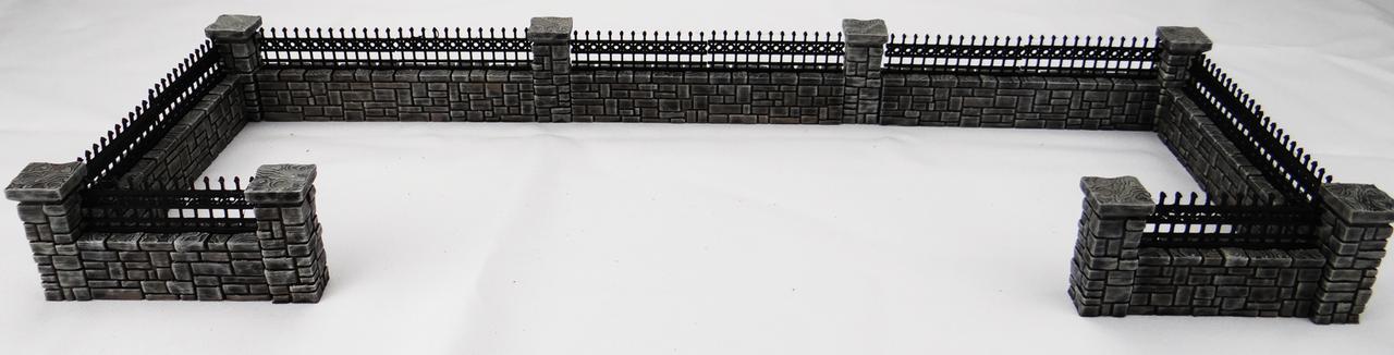 1308-Cemetery Wall Set 15pc Set