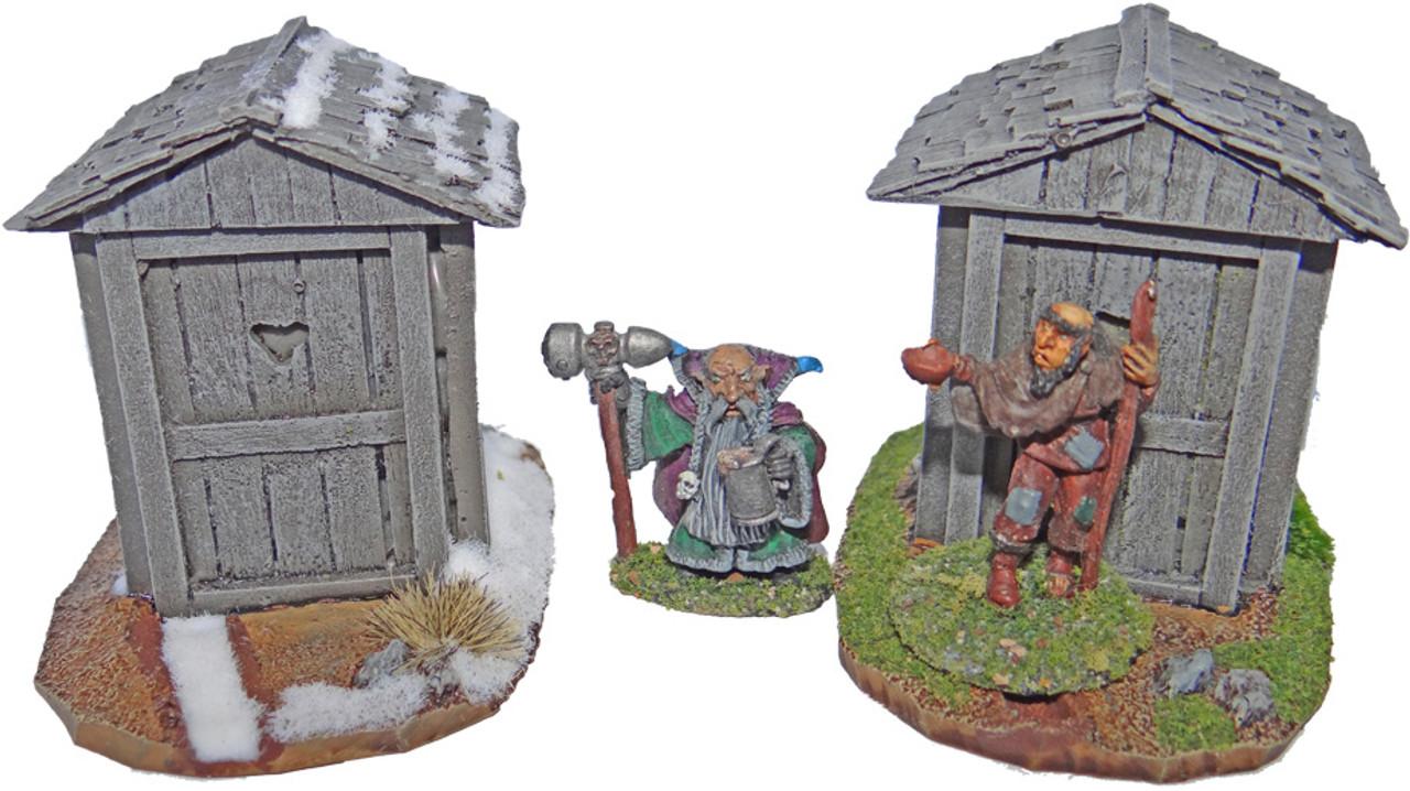 1083-Primitive Outhouse 2ea