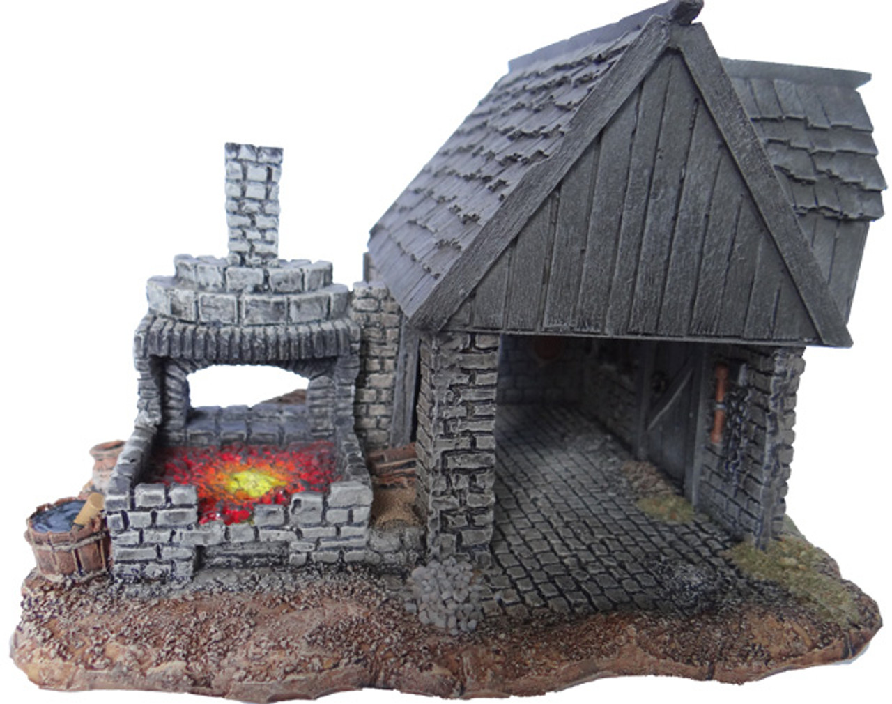 1090-Blacksmith Shop w/Forge