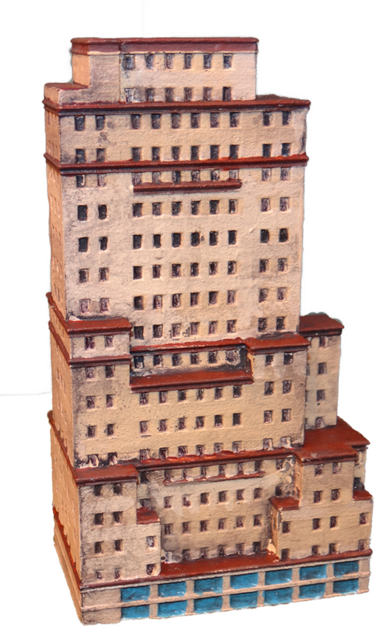 6mm Apartment Building Front View