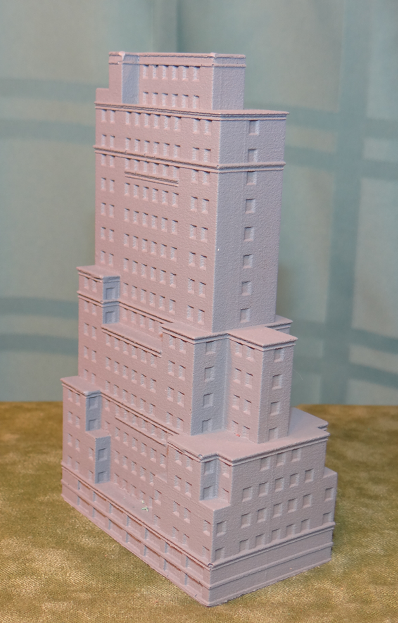 Side View of 6mm Unpainted Apartment Building