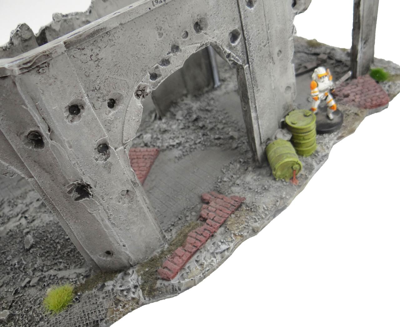 6mm Factory Ruins battle damage