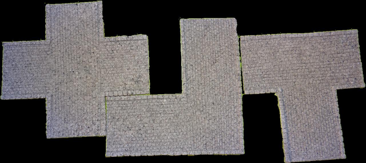 1140-Euro-Grey Cobblestone 3pc Junction Pack