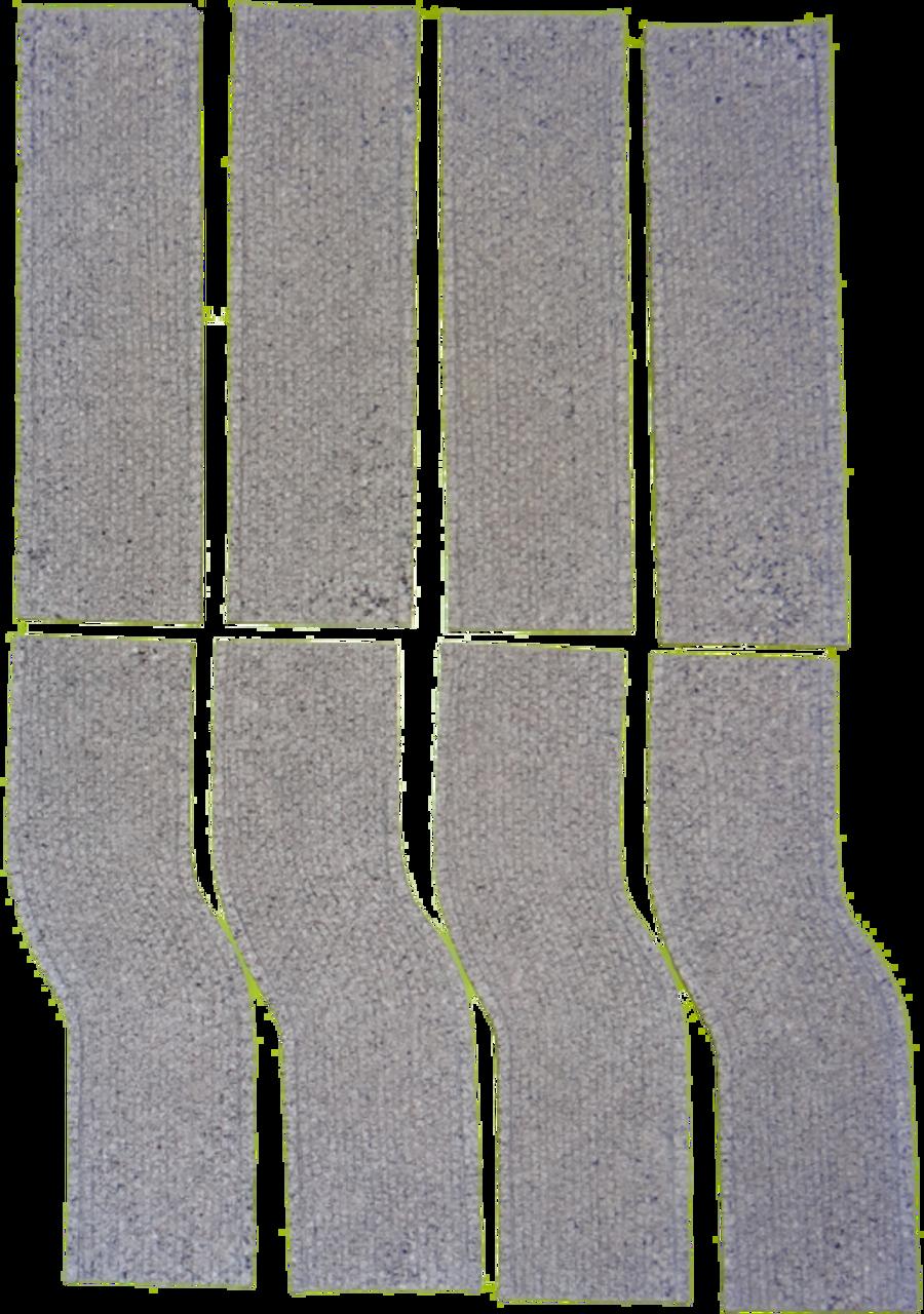 1141-Euro-Grey Cobblestone 8pc Road Set 6.5 ft