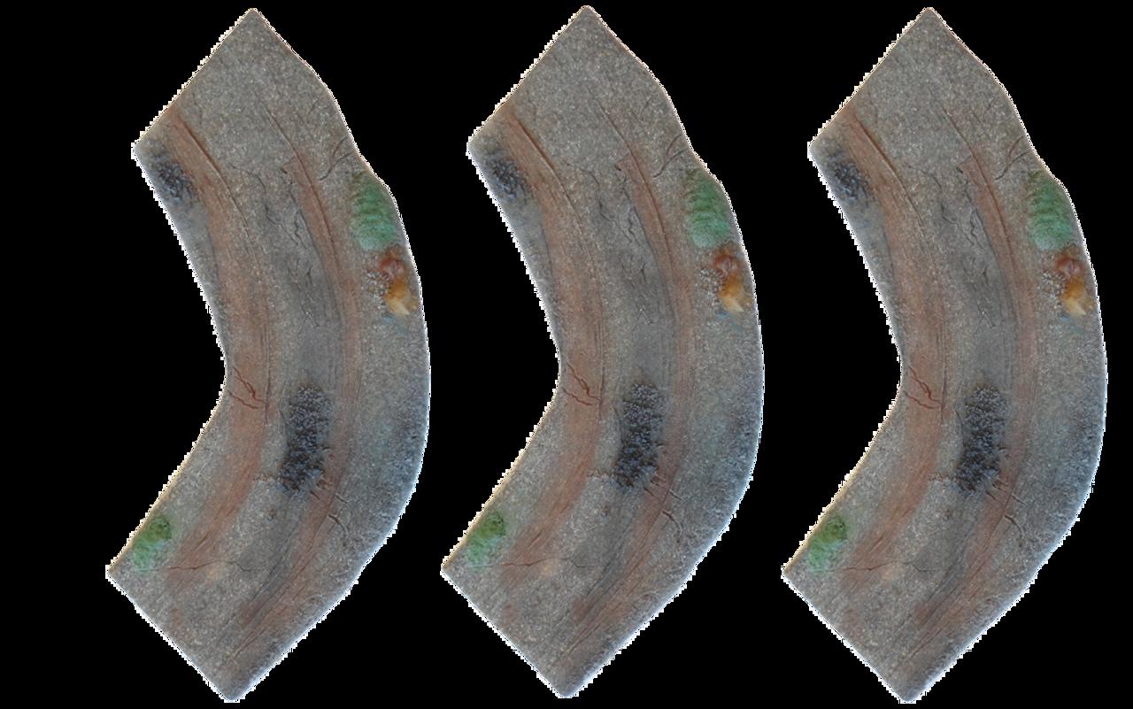 1263-Curve Gravel/Dirt Road 3ea