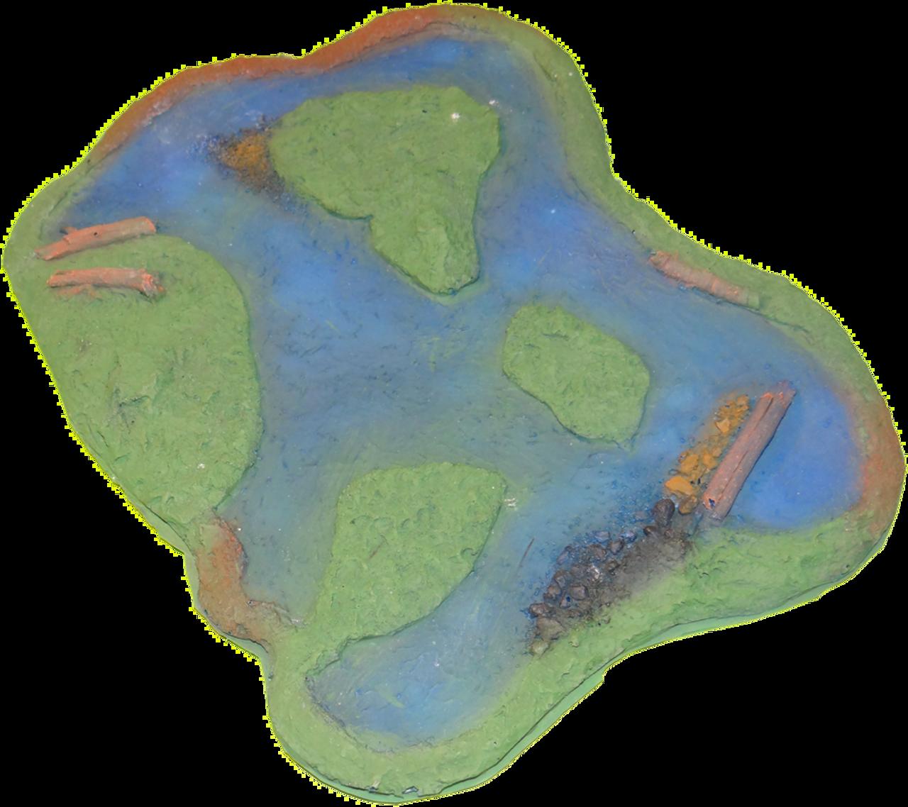 1107-Pond w/Islands