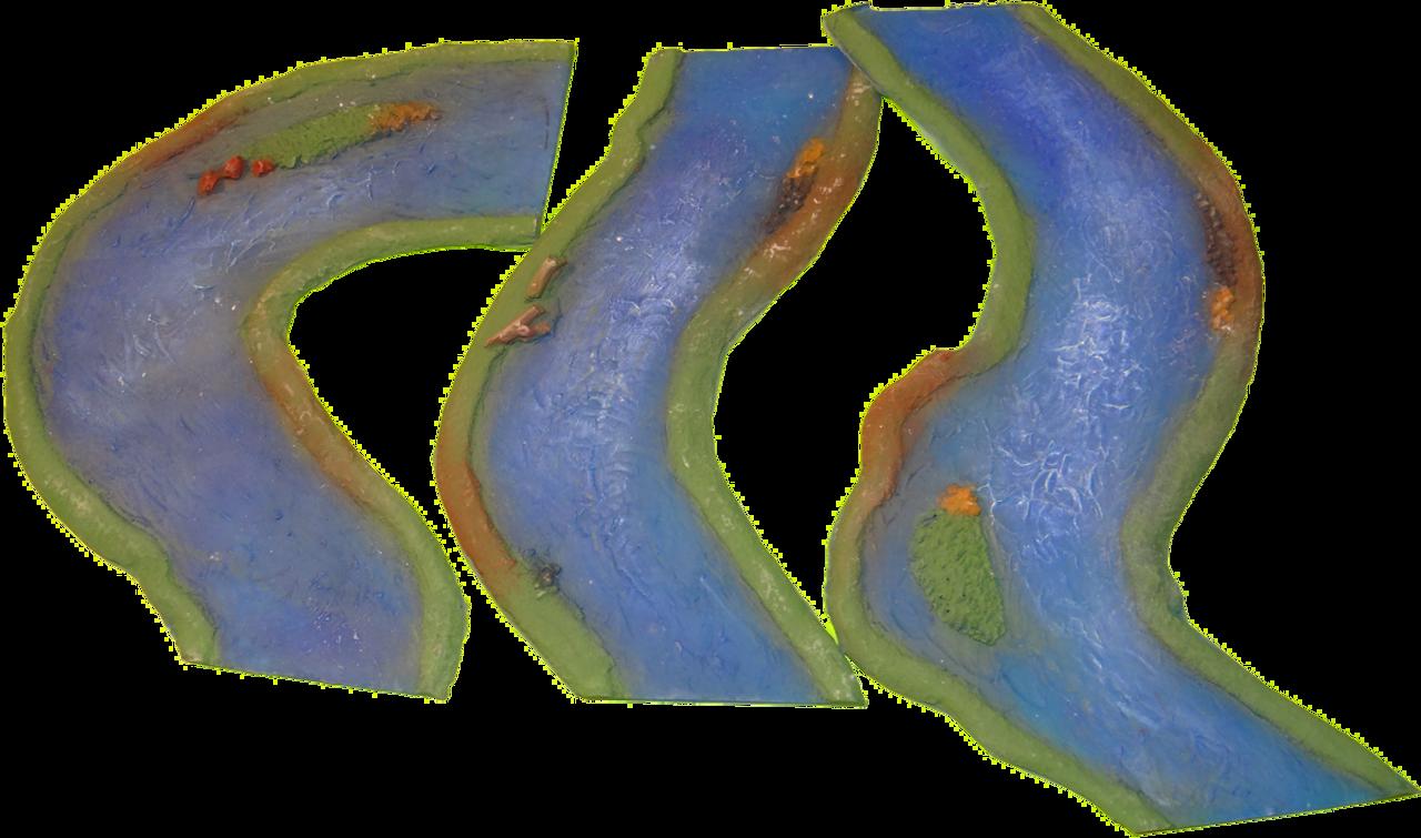 1210-River Curve Set 3pc