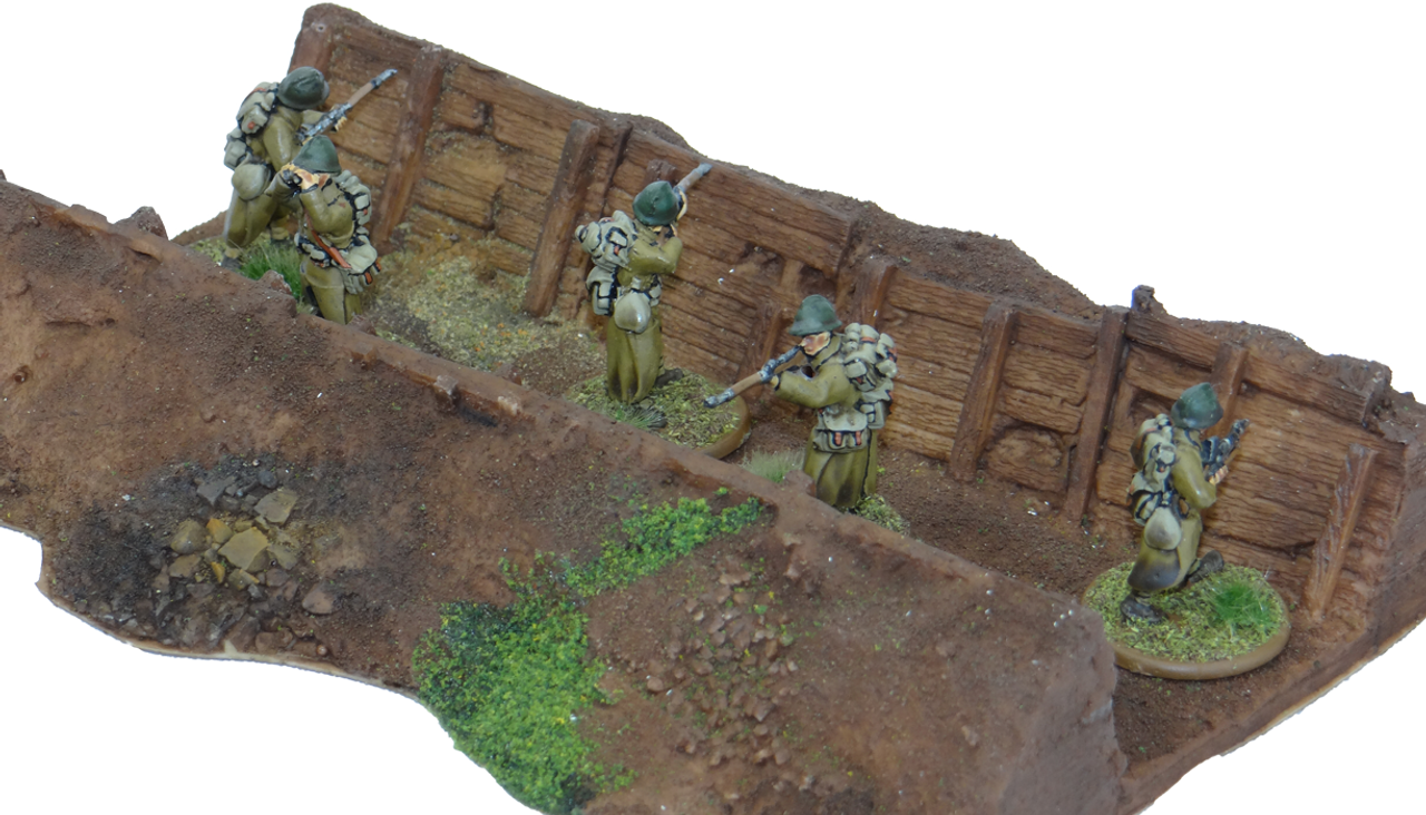 1328-Trench, Straight Painted
