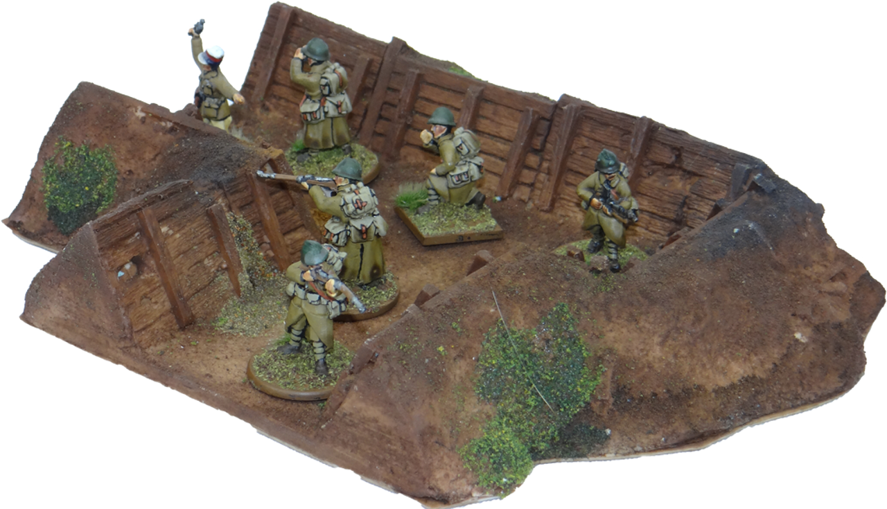 1329-Trench 90° Firebay,  Painted