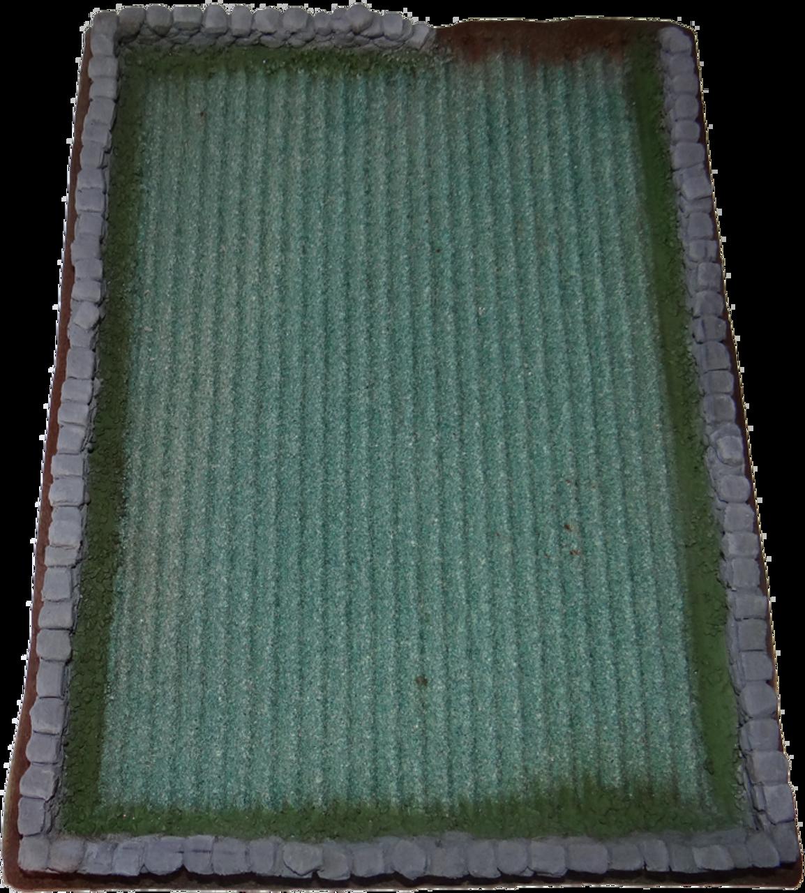 1244-Green Field w/Stone Wall