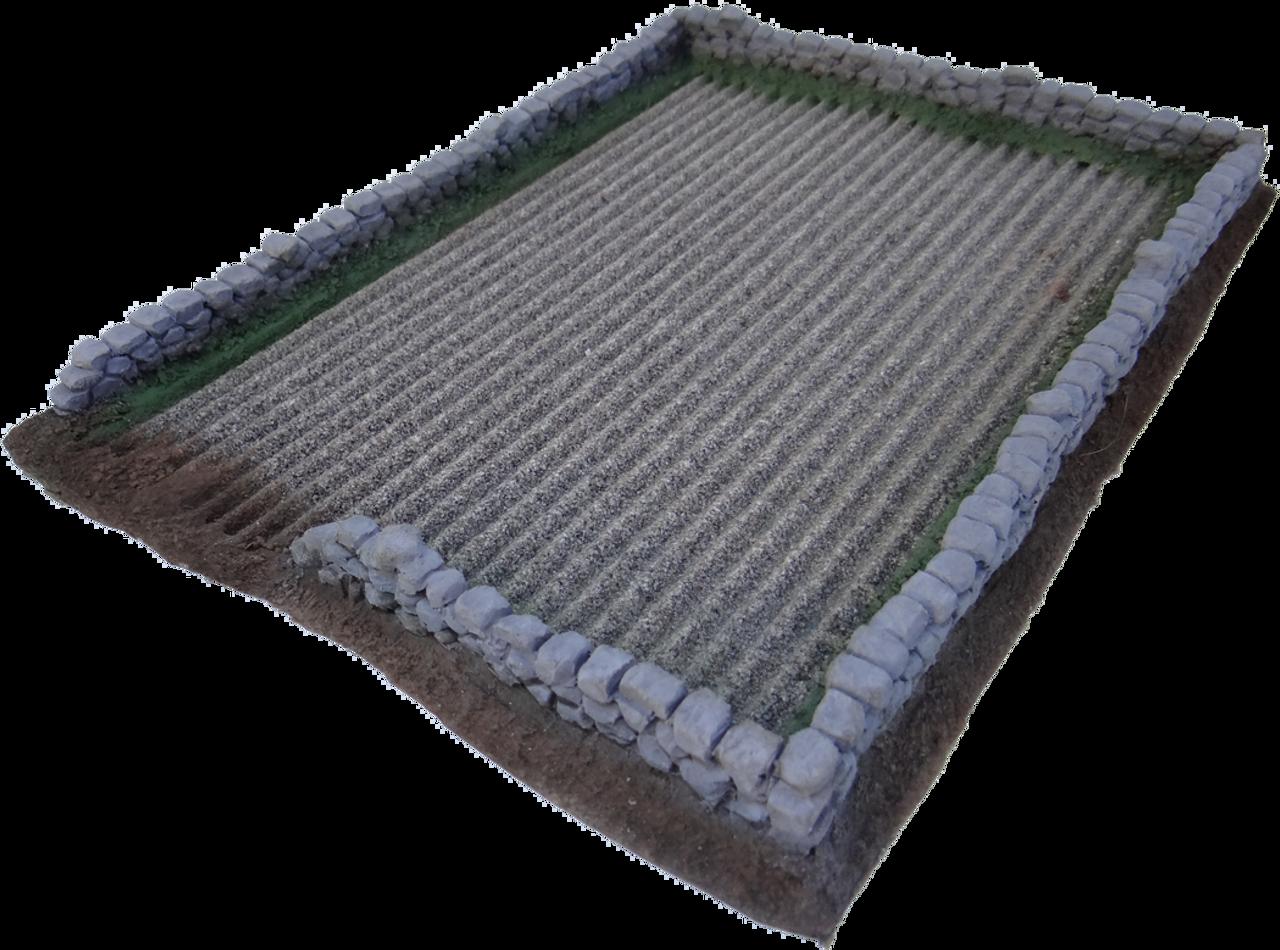 1245-Dirt Field w/Stone Wall