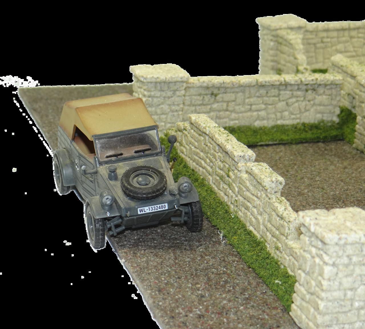 1286-Farm Stone Wall Ruin 8pc Set Sandstone