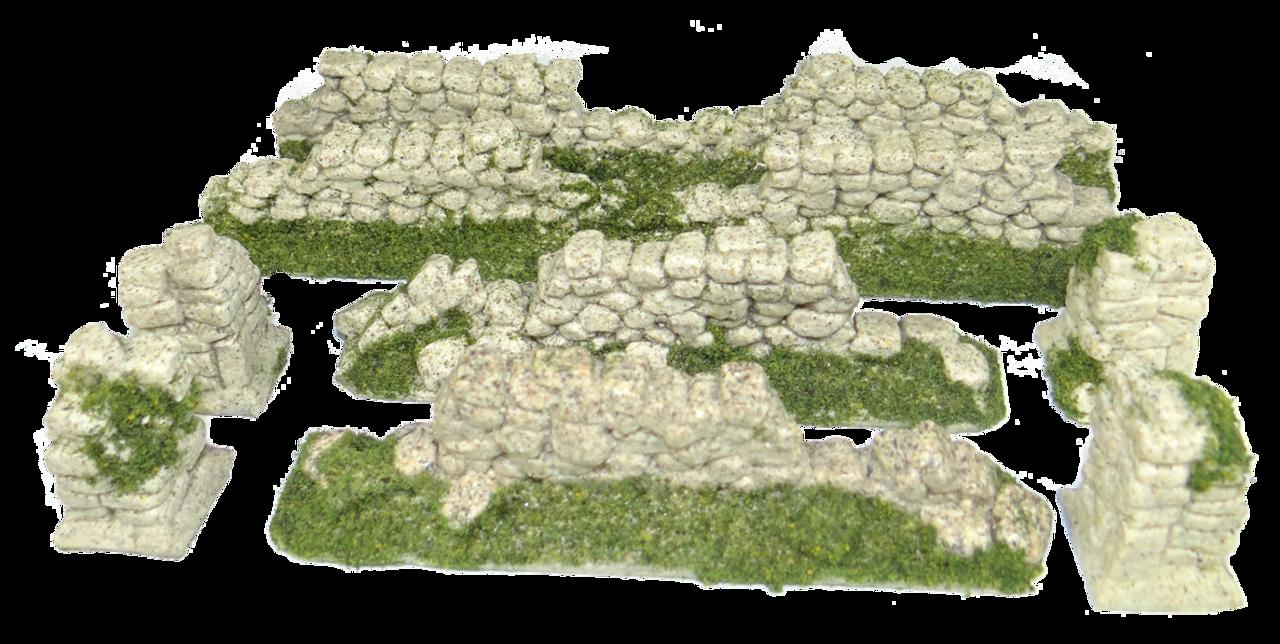 1290-Yorkshire Wall Ruin Wall Set Sand