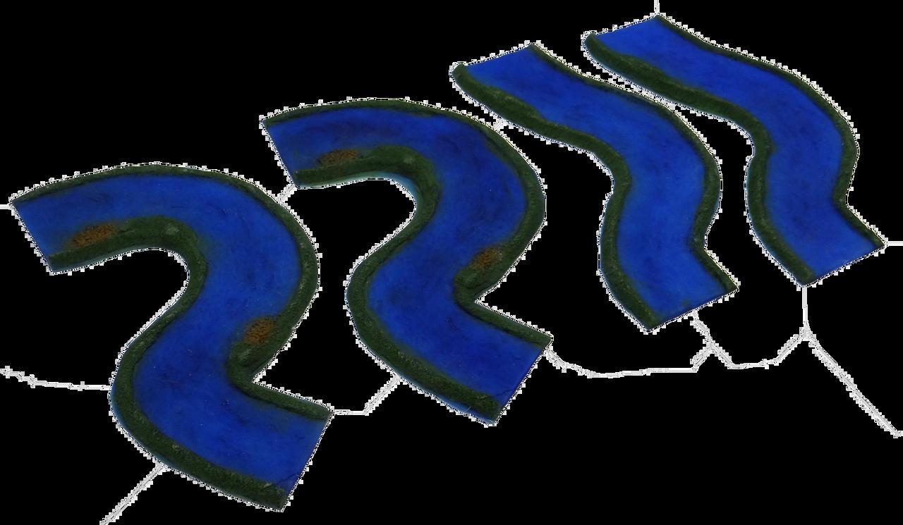 1352-Blue River Curve River Pack 4pc