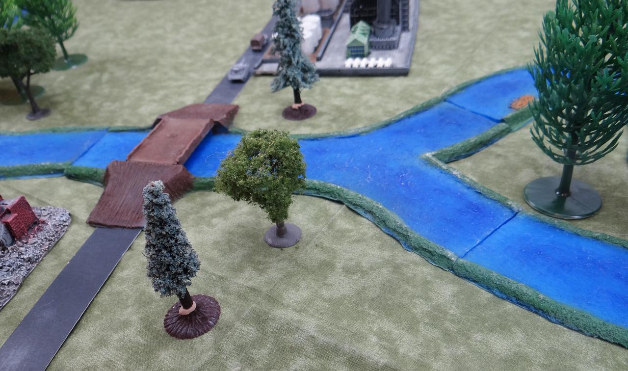 1353-Road- River Crossing W/4 Bridges 2sets