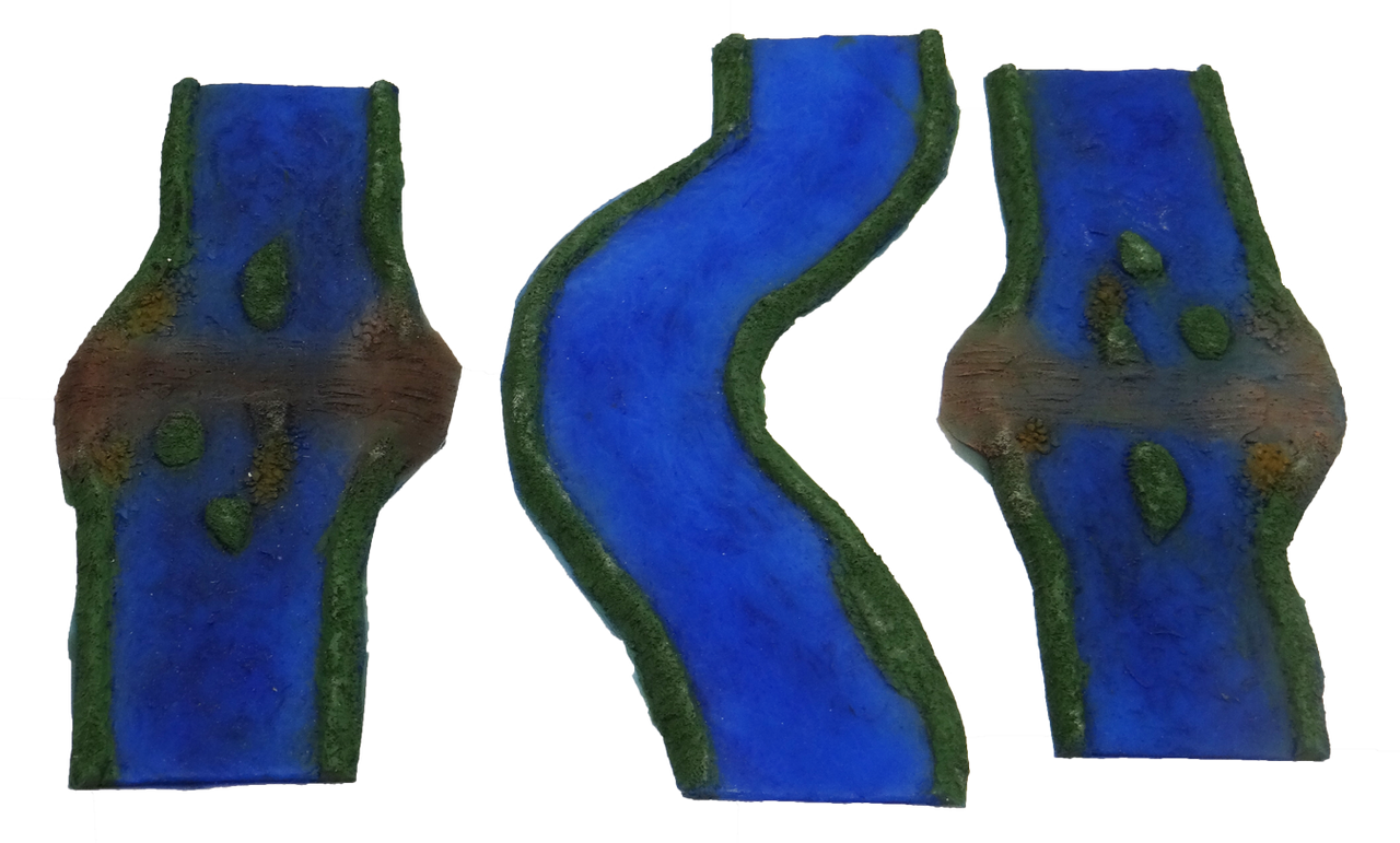 1355-3pc Painted River Ford-Curve Set