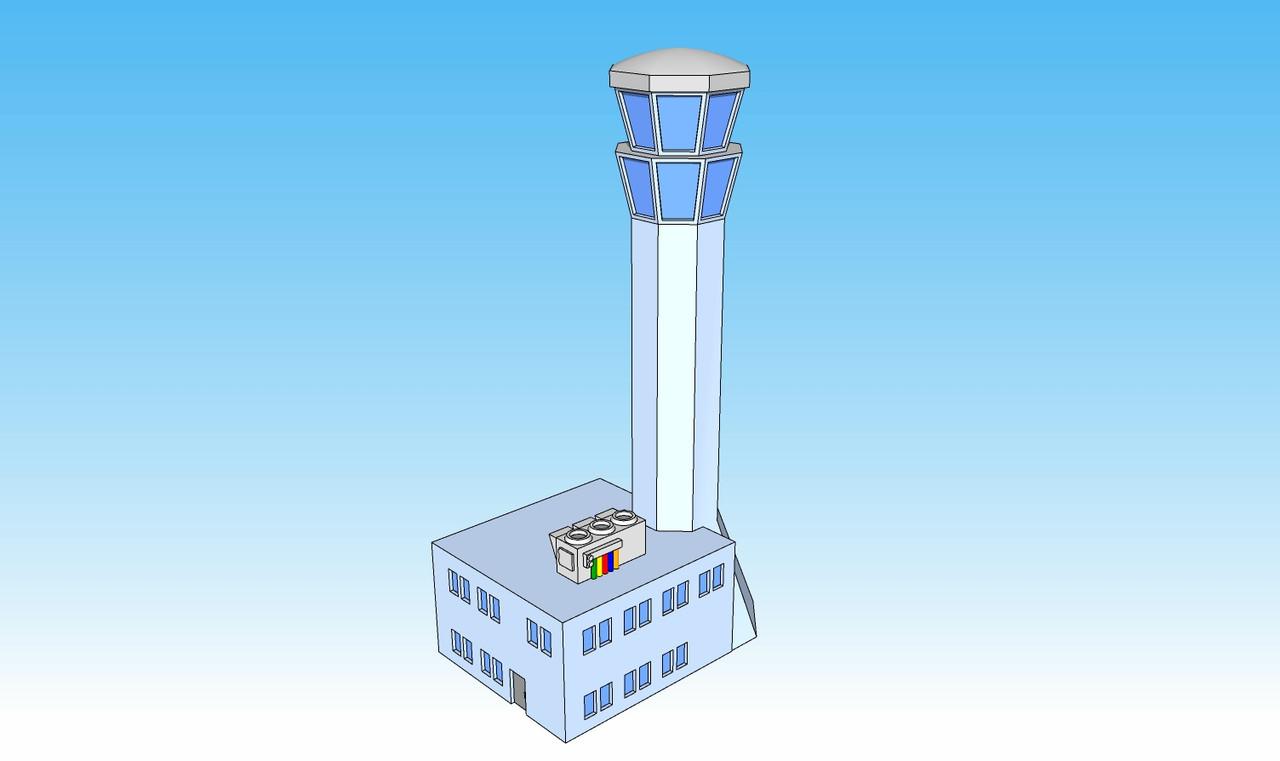 6mm Flight Control Tower Illustration