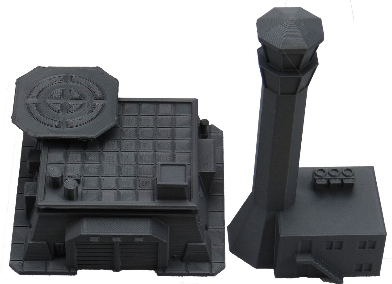 6mm Modern Control Tower with cargo terminal